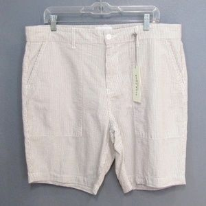 NEW Five Four Taupe Tan Seersucker Shorts Size 36